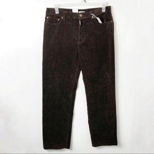 NWT Jones New York Brown Corduroy Pants 14
